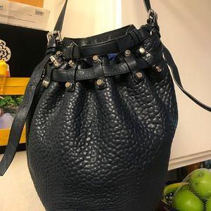 Authentic Alexander Wang Diego handbag Navy blue